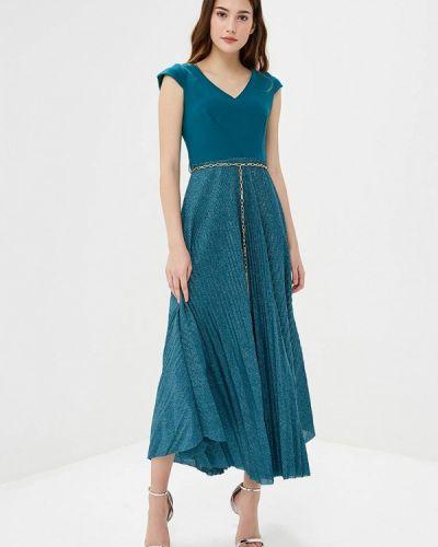 Вечернее платье бирюзовый осеннее Rinascimento
