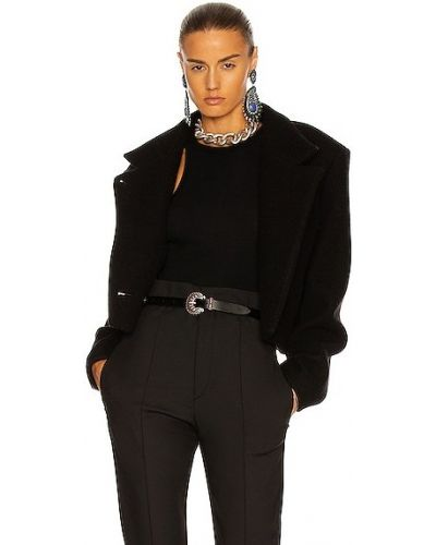 Черная кожаная кожаная куртка Isabel Marant