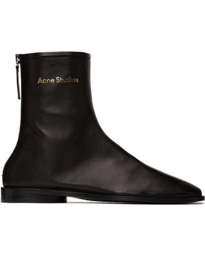 Przeciwtrądzikowy czarny buty na trądzik Acne Studios