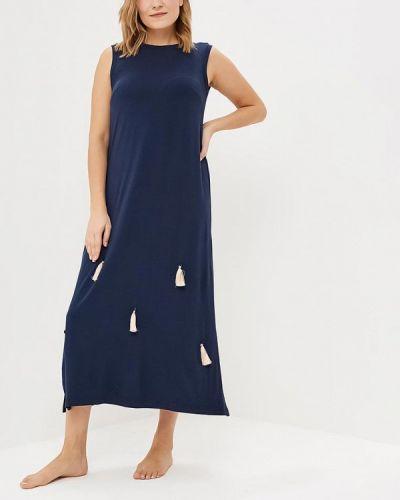Платье осеннее синее Griol
