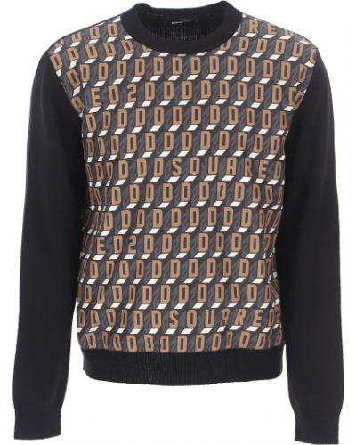 Czarna włoska bluza Dsquared