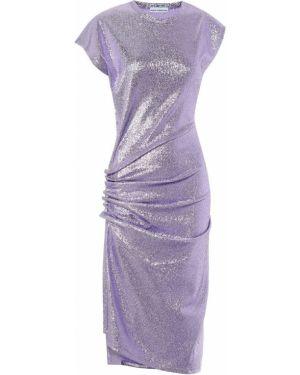 Платье миди с завышенной талией фиолетовый Paco Rabanne