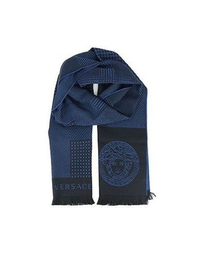Синий шарф Versace