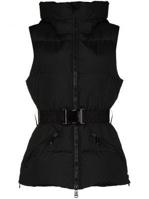 Куртка горнолыжная с капюшоном - черная Goldbergh