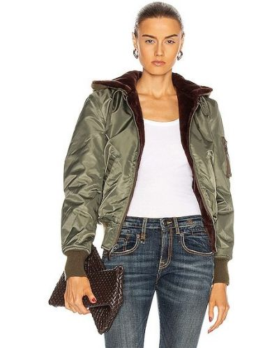 Зеленая джинсовая джинсовая куртка R13