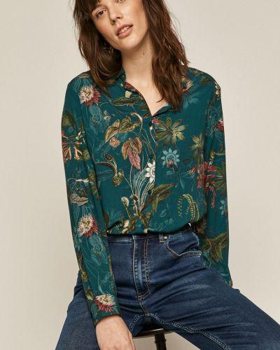 Koszula w kwiaty - turkusowa Medicine
