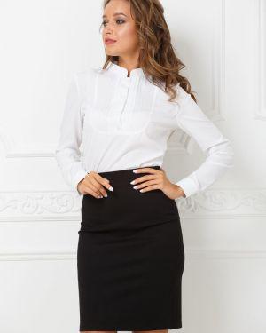 Блузка с длинным рукавом с кокеткой с воротником-стойкой Valentina