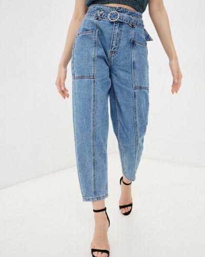 Синие прямые джинсы Miss Bon Bon