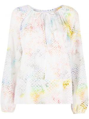 Белая блузка с завязками с вырезом Lala Berlin