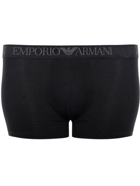 Черные хлопковые трусы Emporio Armani