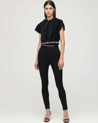 Czarny legginsy elastyczny Alexander Wang