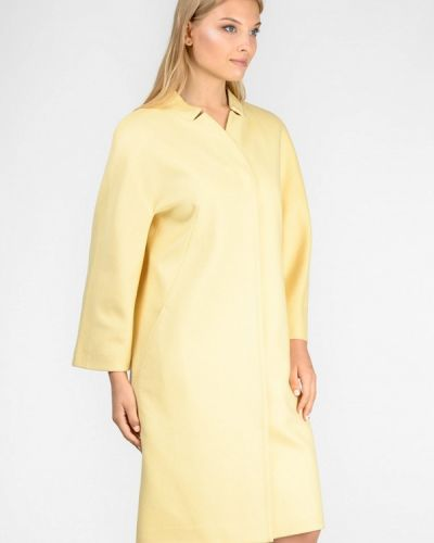 Желтое пальто с капюшоном Raslov