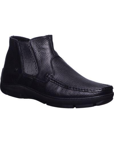 Кожаные ботинки осенние черные Baldinini