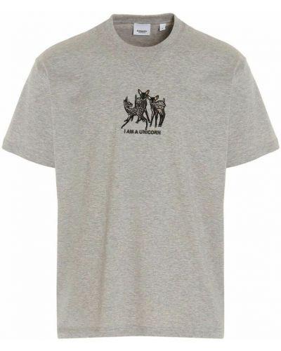 T-shirt - szara Burberry