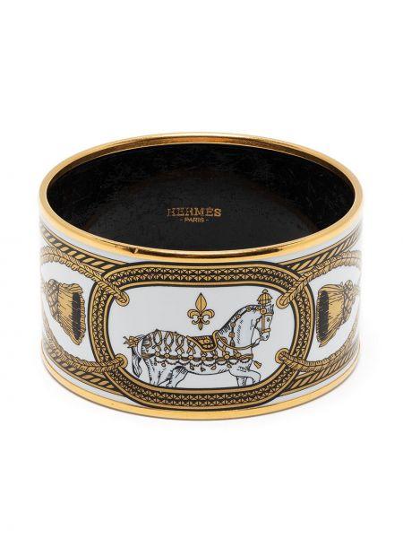 Biała złota bransoletka Hermes