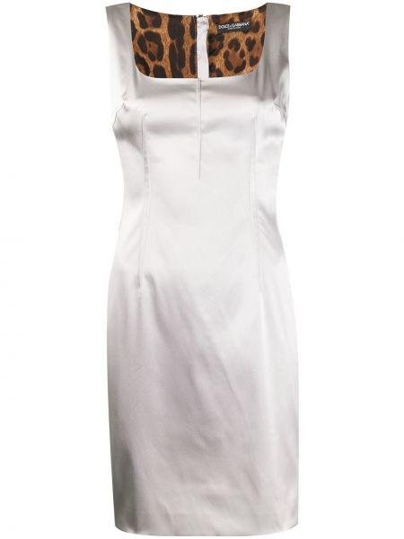 Нейлоновое серебряное платье без рукавов на молнии Dolce & Gabbana Pre-owned