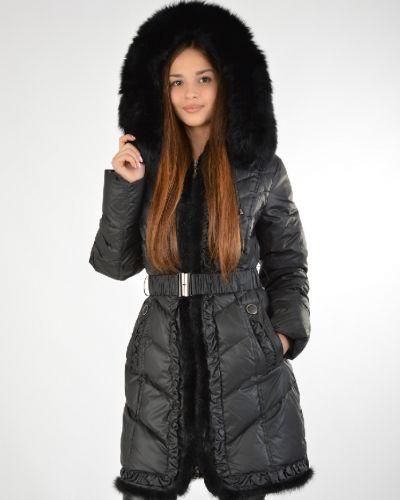 Зимнее пальто с капюшоном на молнии La Reine Blanche