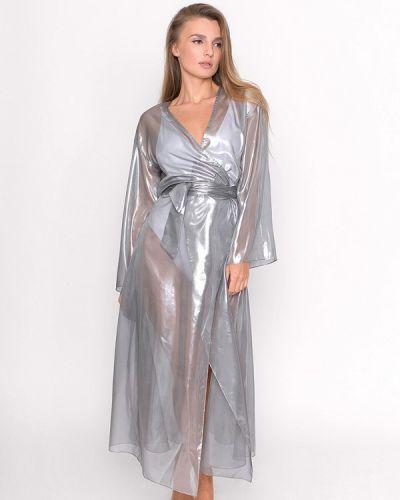 Пляжное платье осеннее серое Love Pam