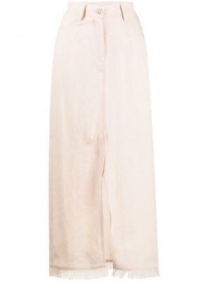 Юбка макси с карманами - бежевая Nanushka