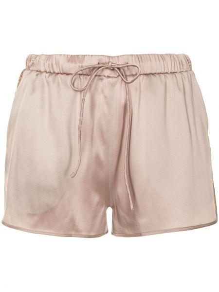Шелковые с завышенной талией розовые шорты Carine Gilson