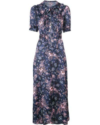 Приталенное расклешенное классическое платье мини Jill Stuart