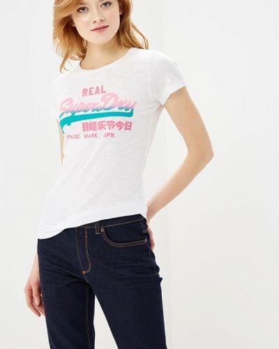 Белая футболка Superdry