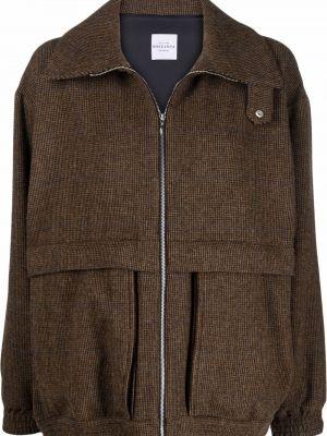 Пиджак твидовый - коричневый Roseanna