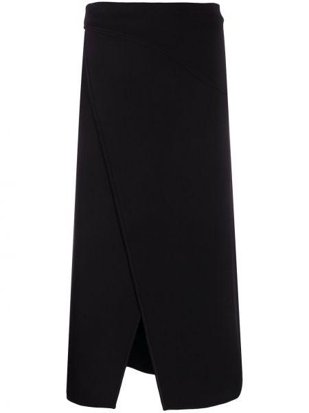Wyposażone czarny asymetryczny spódnica rozciągać Givenchy