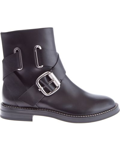 Кожаные ботинки с пряжкой на каблуке Casadei