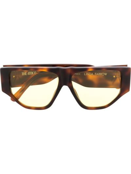Oprawka do okularów z logo Linda Farrow