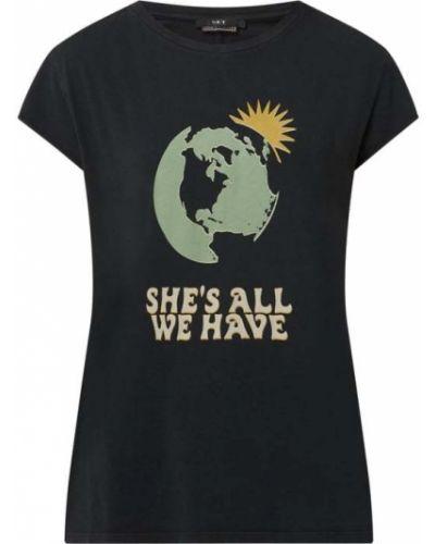 Czarny t-shirt bawełniany z printem Set