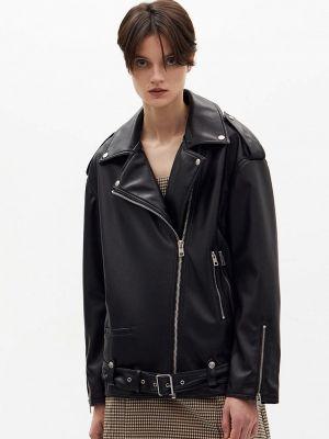Черная кожаная куртка Lime