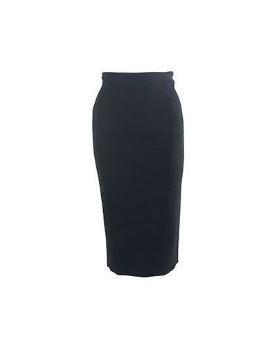 Черная шерстяная юбка Valentino Red