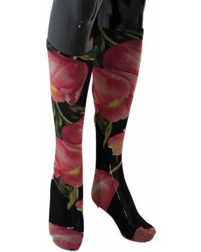 Czarne skarpety z nylonu Dolce And Gabbana