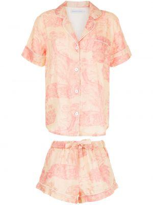 Różowa piżama krótki rękaw Desmond & Dempsey