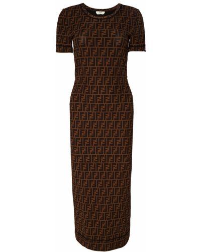 Платье миди облегающее итальянский Fendi