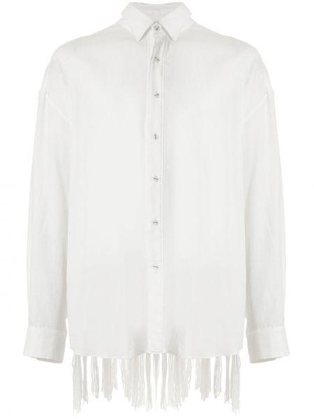 Свободная рубашка с бахромой на пуговицах Yoshiokubo