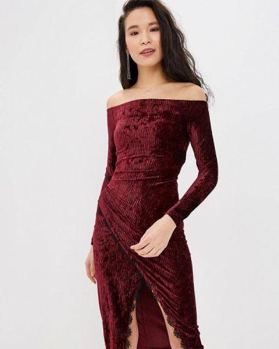 Вечернее платье бордовый красный Ruxara