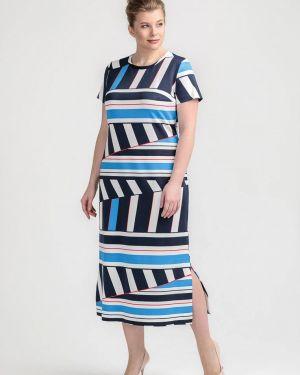 Повседневное платье синее Larro