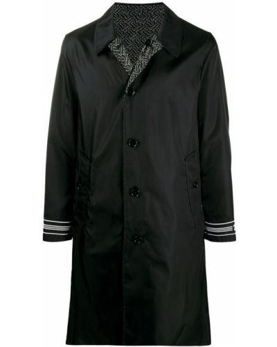 Czarny płaszcz Burberry