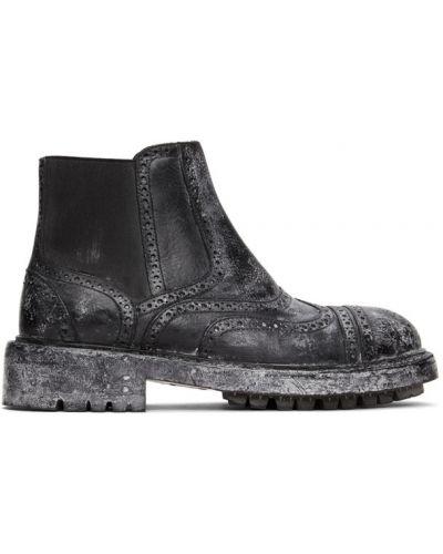 Черные кожаные ботинки челси винтажные Dolce & Gabbana