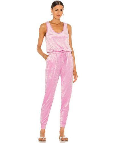 Бархатный розовый комбинезон с карманами Generation Love