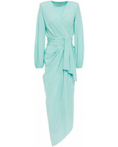 Sukienka wieczorowa asymetryczna z jedwabiu na obcasie Alexandre Vauthier
