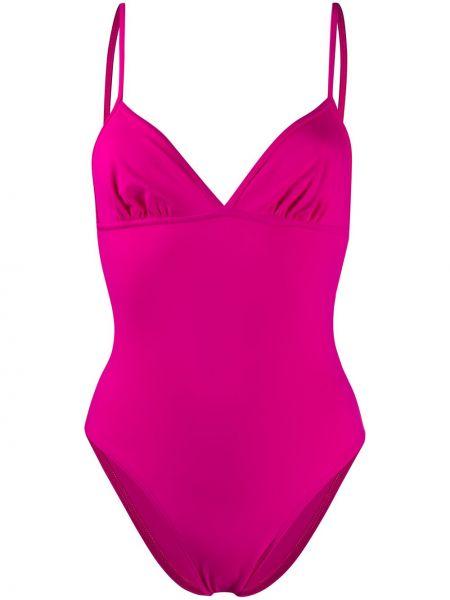 Розовый слитный купальник без рукавов эластичный Sian Swimwear