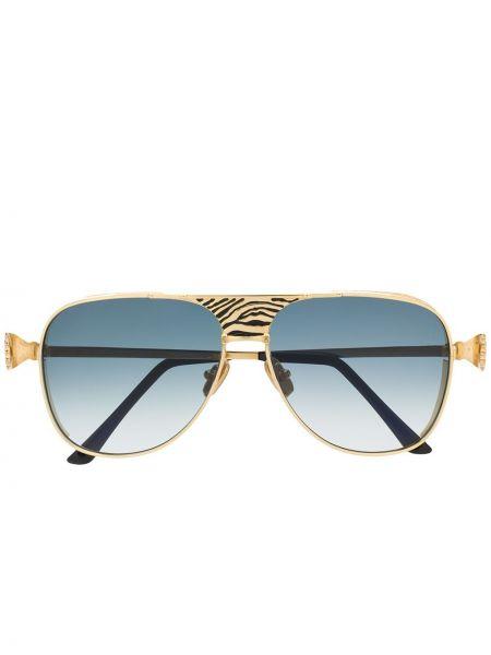 Золотистые муслиновые желтые солнцезащитные очки с декоративной отделкой Anna Karin Karlsson
