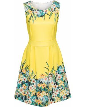 Летнее платье мини с цветочным принтом Bonprix