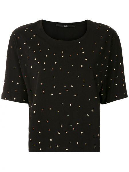 Хлопковая футболка - черная Eva