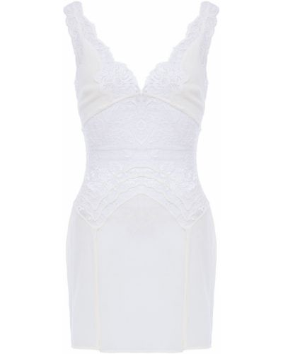 Biała koszula nocna koronkowa sznurowana La Perla