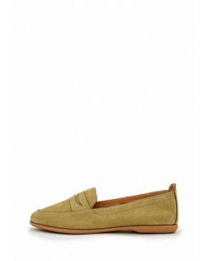 Зеленые туфли из нубука Darkwood