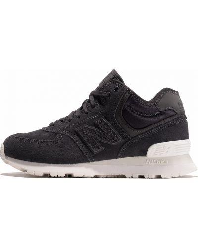 Повседневные кожаные черные кроссовки New Balance